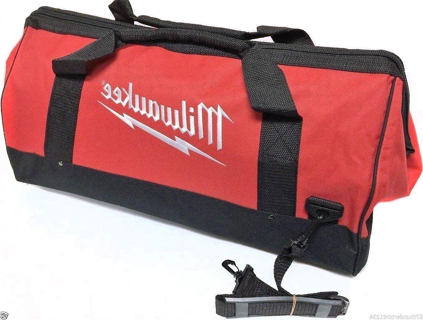 "New Large Milwaukee Heavy Duty Duffle Tool Bag 25""L X 13""W X"