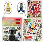 Set Of 3 LEGO Books With LEGO Minifigures for Kids Adult LEG