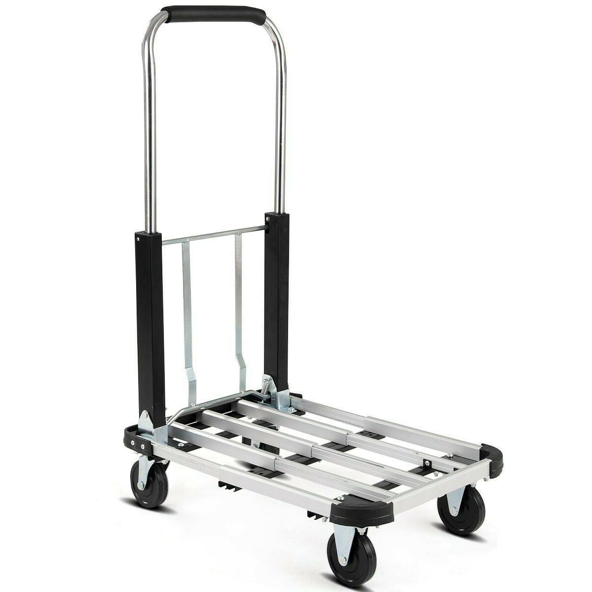 Aluminium Foldable Cart Folding Dolly Heavy Duty