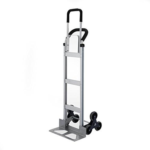 BLTPress 550LBS Aluminum Duty Stair Climber Assisted with Flat Free Pest v. Silver