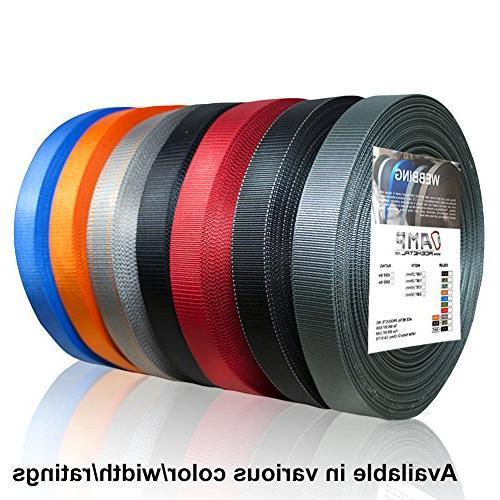 AMP 4200lbs Duty Industrial Webbing 1 50 Yards Red