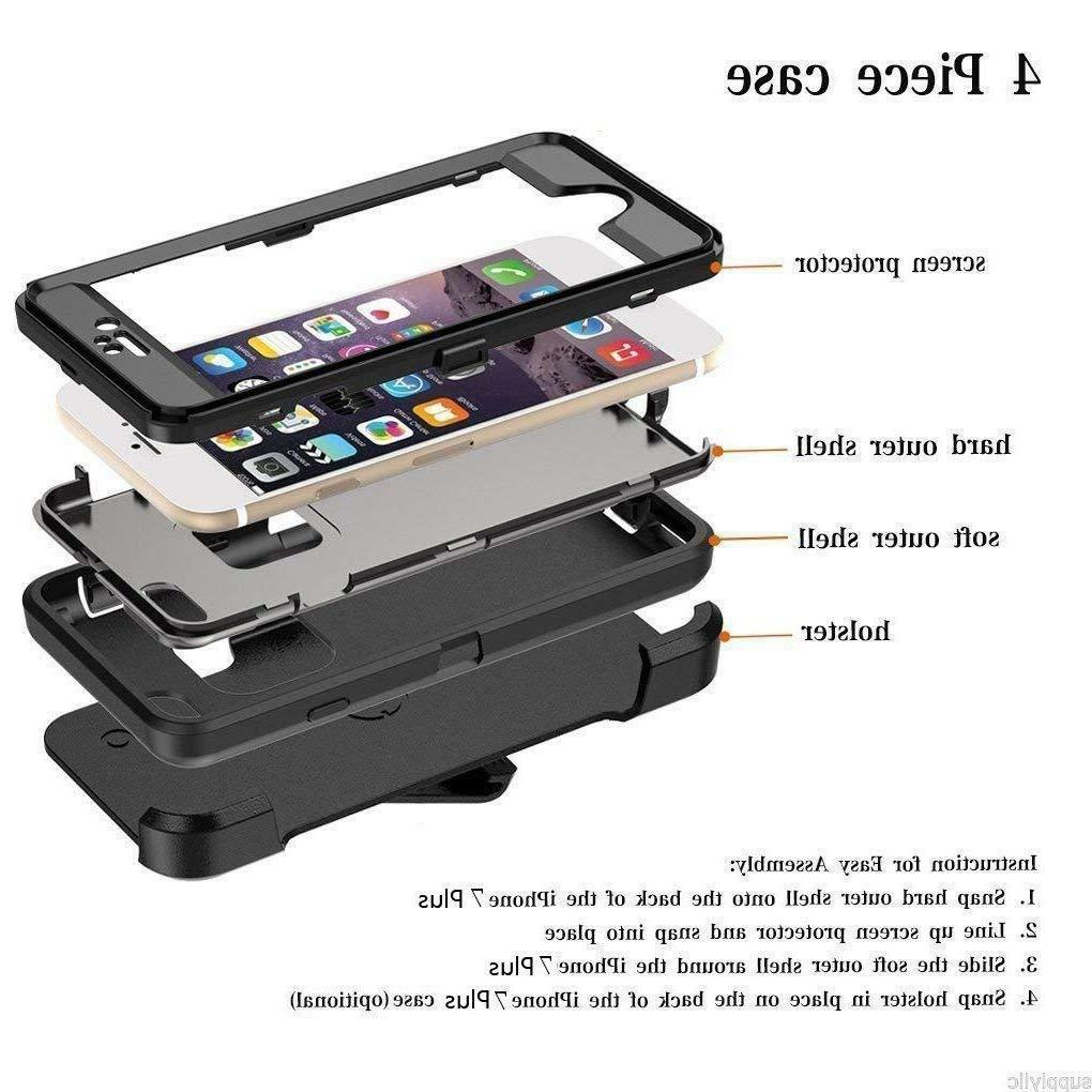 For Apple 8 Plus Heavy Shockproof Protective