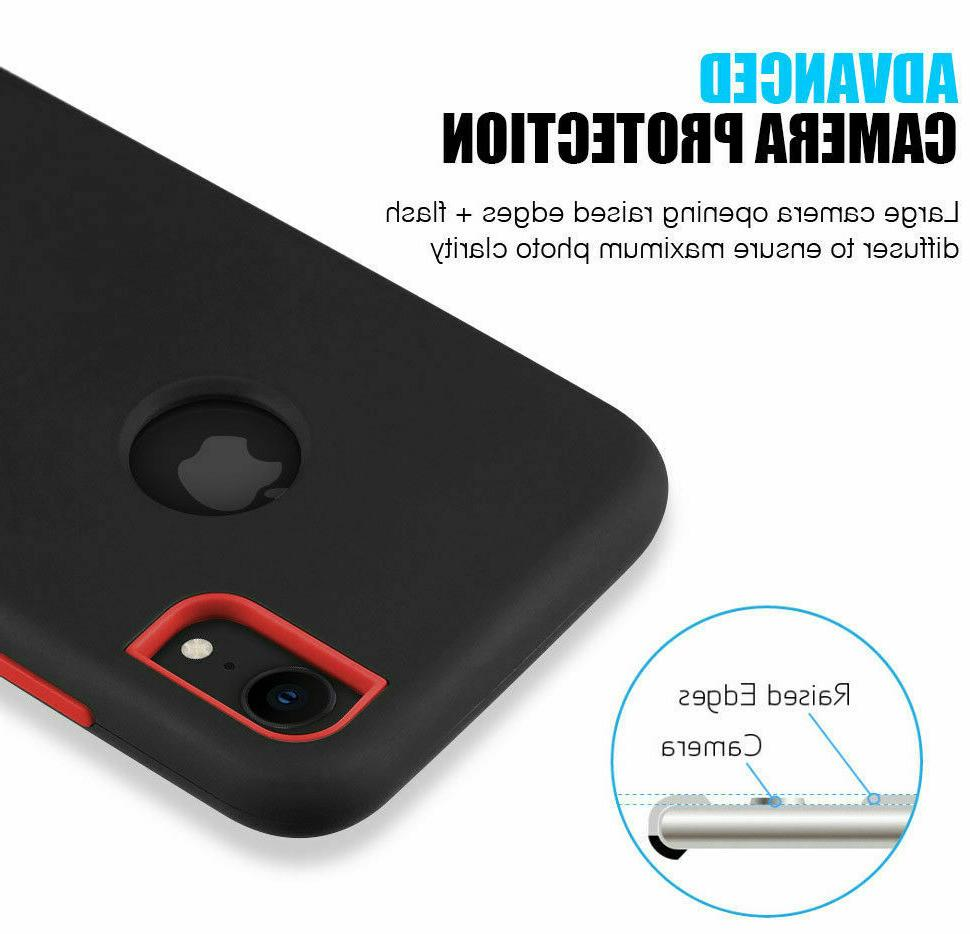 For Apple 8 7 Plus Protective Soft Silicon Heavy Duty Case