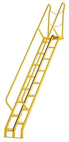 Vestil ATS-10-56 Alternating Tread Stair with 16 Steps, Stee