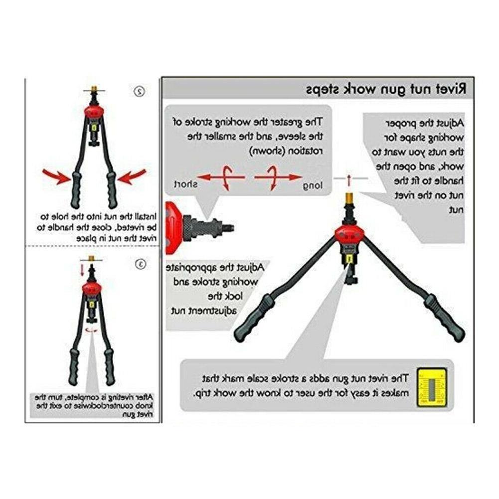 Automatic Rivet Tool Set Manual Riveting Tool Cap Heavy Duty Riveter