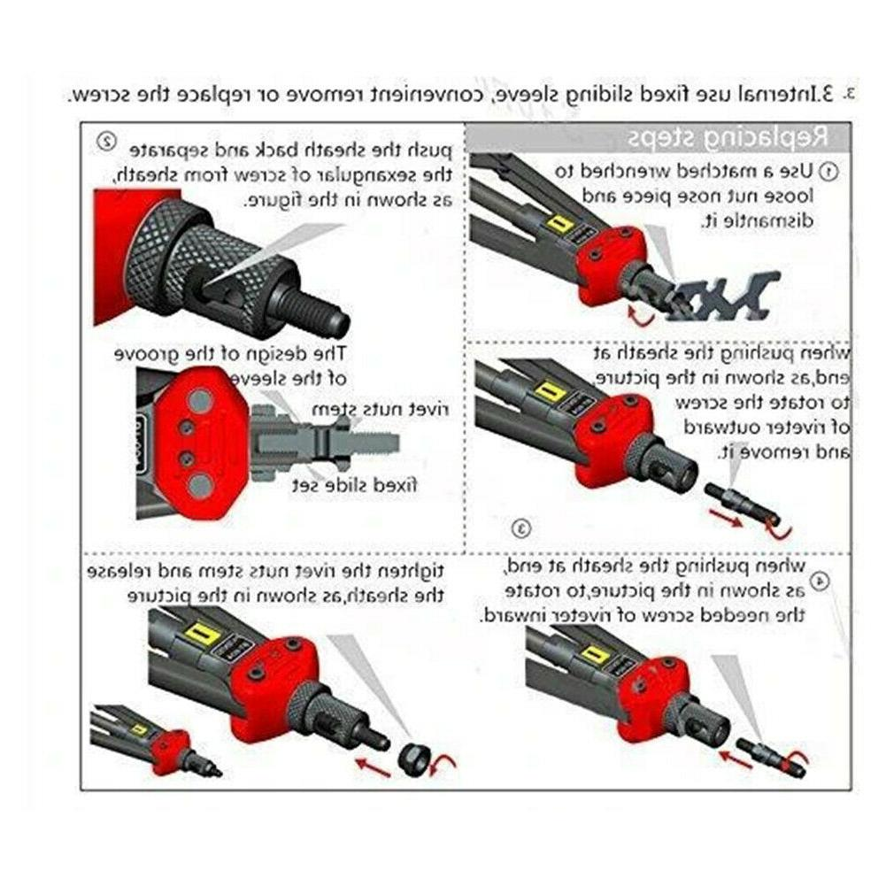 Automatic Rivet Set Manual Riveting Cap Riveter