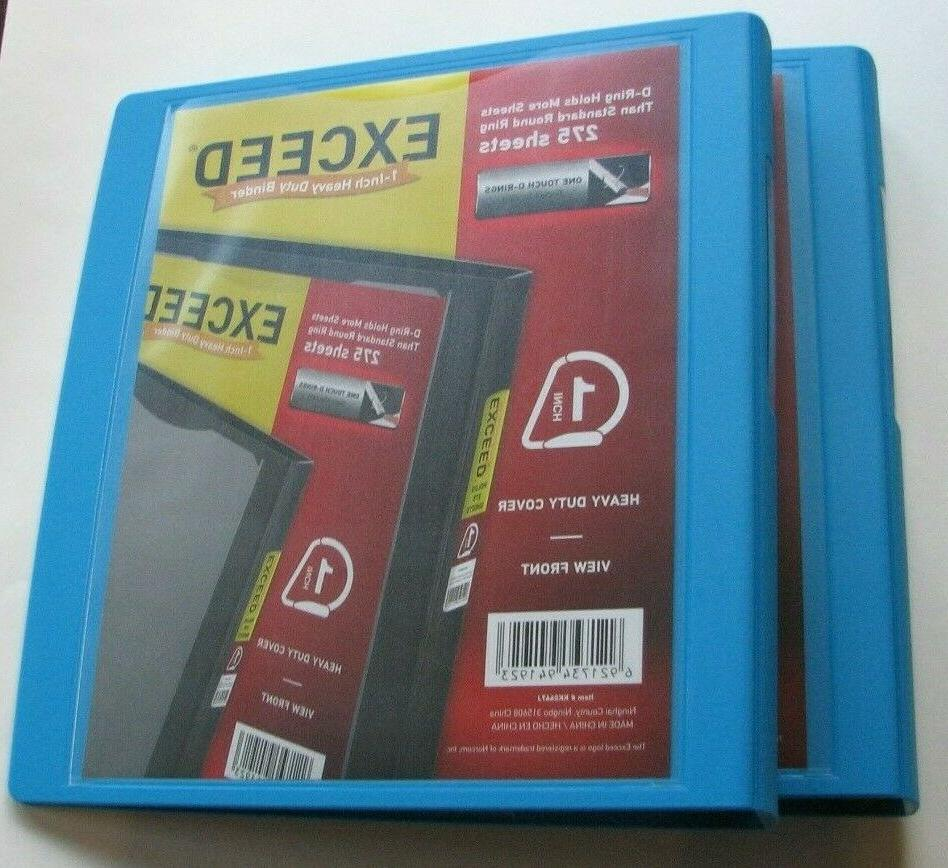 BINDERS EXCEED INCH HEAVY DUTY D RING 275 SHEETS