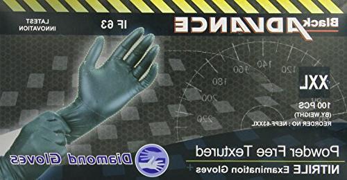 black advance powder nitrile examination