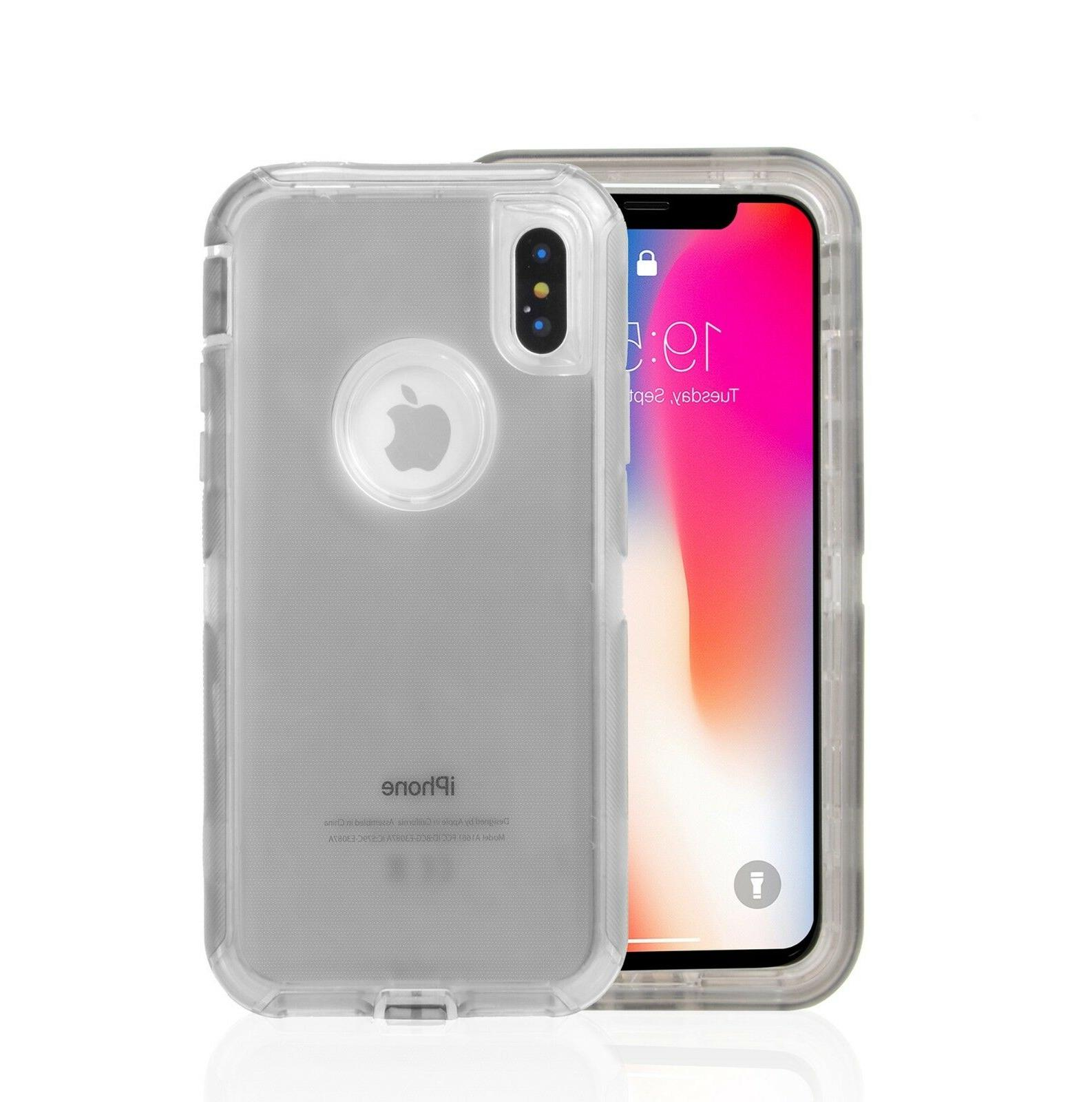 Clear Defender iPhone XS X 6s Plus fits Otterbox