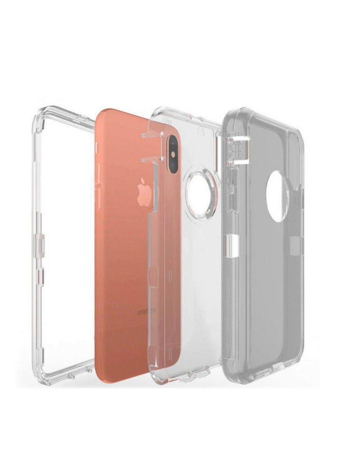 Clear iPhone 6 6s 8 Plus fits Otterbox