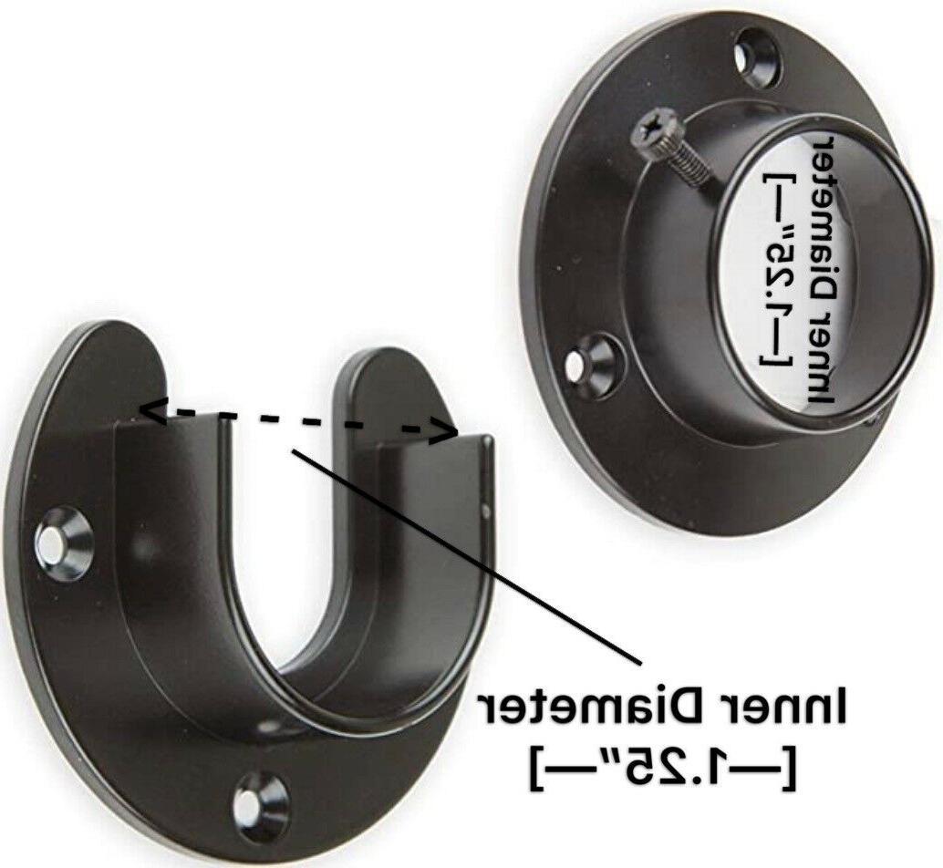 closet heavy duty closet pole sockets black