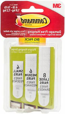 command assorted picture hanging strips big pack