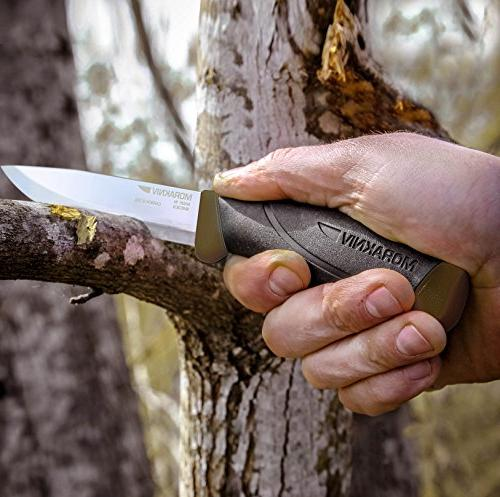 Morakniv Companion Heavy Knife Steel Blade, 0.125/4.1-Inch, Green