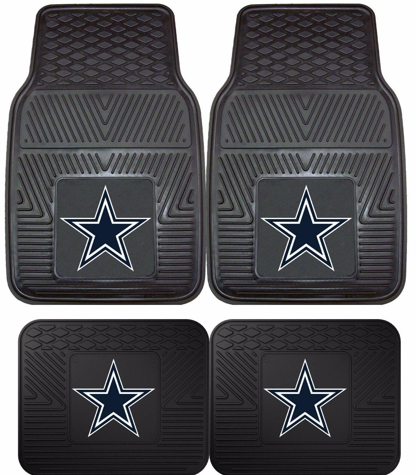 dallas cowboys heavy duty floor mats 2