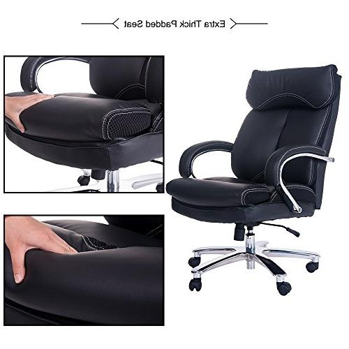 Merax Deluxe and Thick Padded Duty Office Chair Big Steady Base