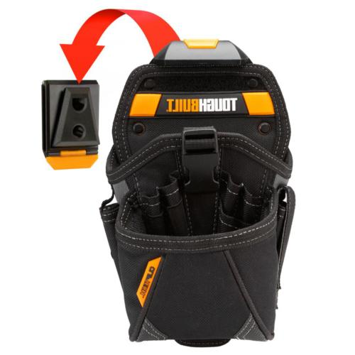 drill holster black w belt clip storage