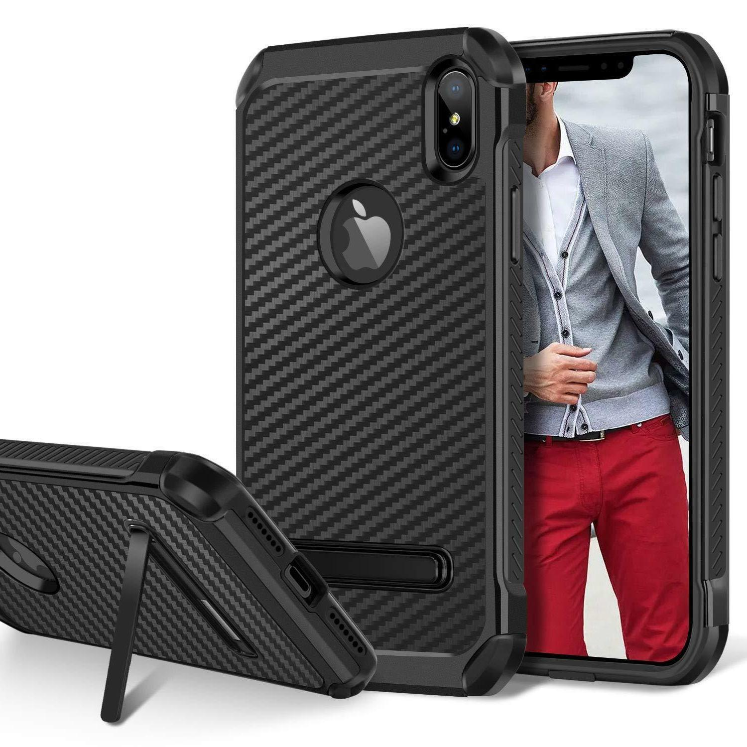 fits iphone case kickstand heavy duty shockproof
