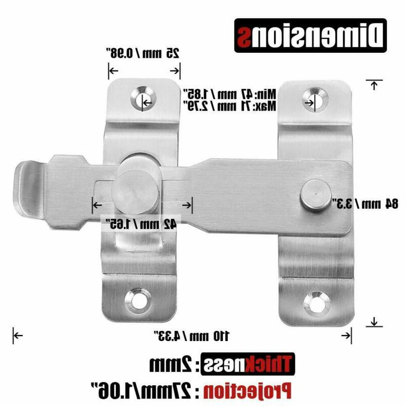Flip Latch Heavy Duty Stainless Gate Lock
