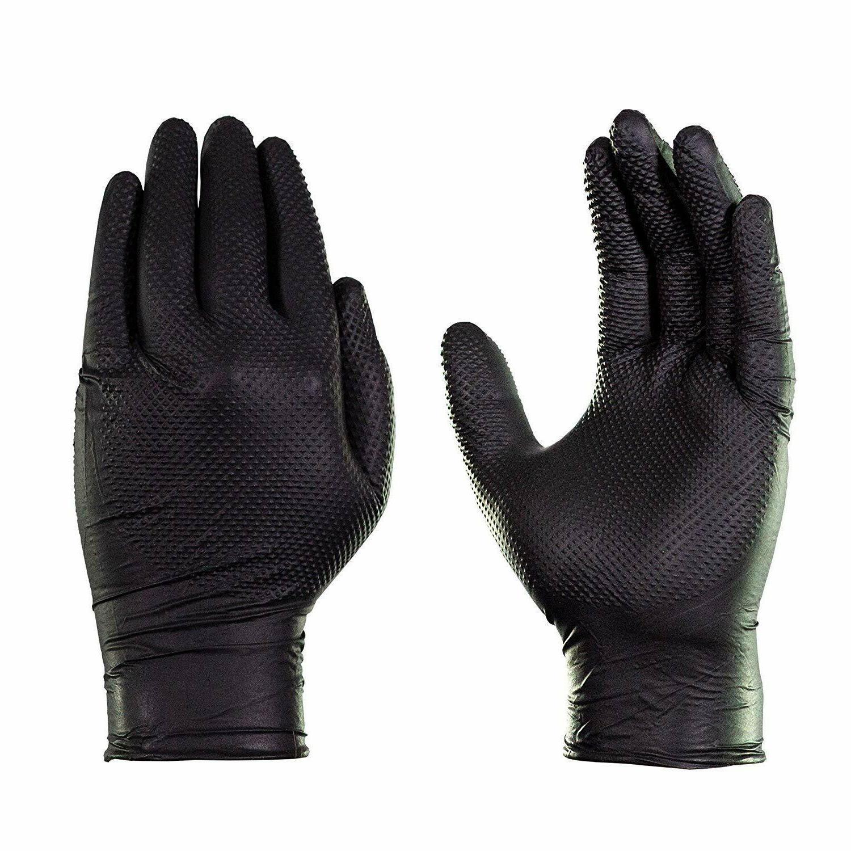 GLOVEWORKS Black Duty Disposable Gloves 100pcs