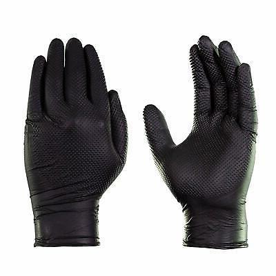 GLOVEWORKS Black Nitrile Duty Latex Free Gloves 100pcs
