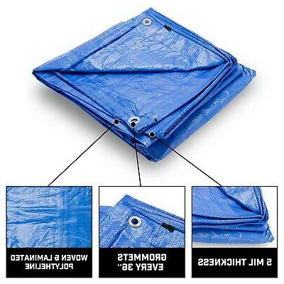 Grizzly 5Mil Tarps Duty Waterproof Tarp Camping/Boats,