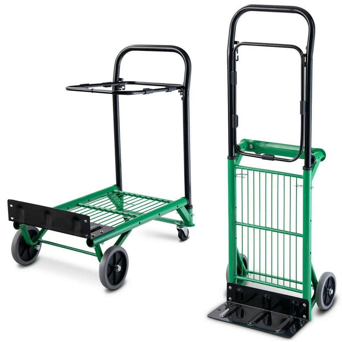 Hand Truck Dolly Convertible Foldable Platform Cart Heavy Du