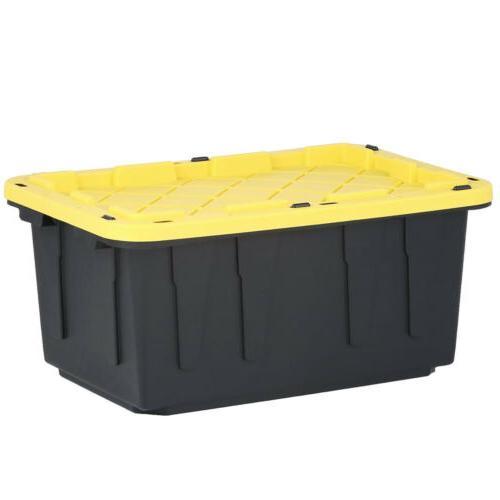 hdx lockable storage bins black