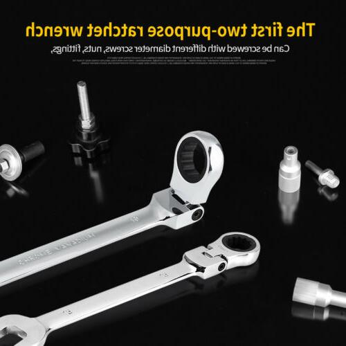 Heavy Duty 12 Metric Flexible Ratchet Wrench Polished Tools Kit