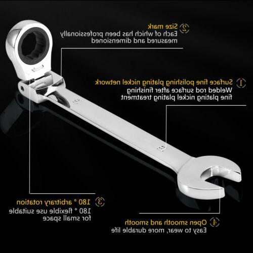 Heavy Duty 12 Metric Flexible Ratchet Wrench Tools Kit