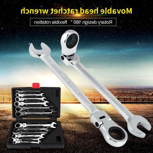 heavy duty 12pcs metric flexible spanners ratchet