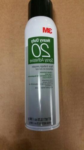 3M Heavy Duty 20 Spray Adhesive Clear, 20 fl oz can, Net Wei