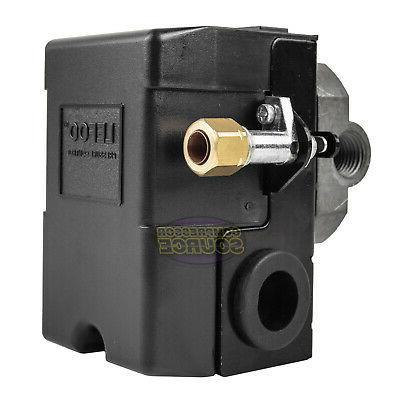 Heavy 4Port Amp Air Compressor Switch PSI