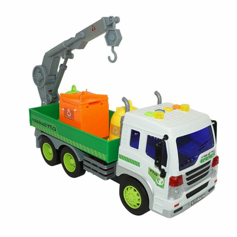 Heavy Lorry Trucks+3 Lights&Sound Kids Toys