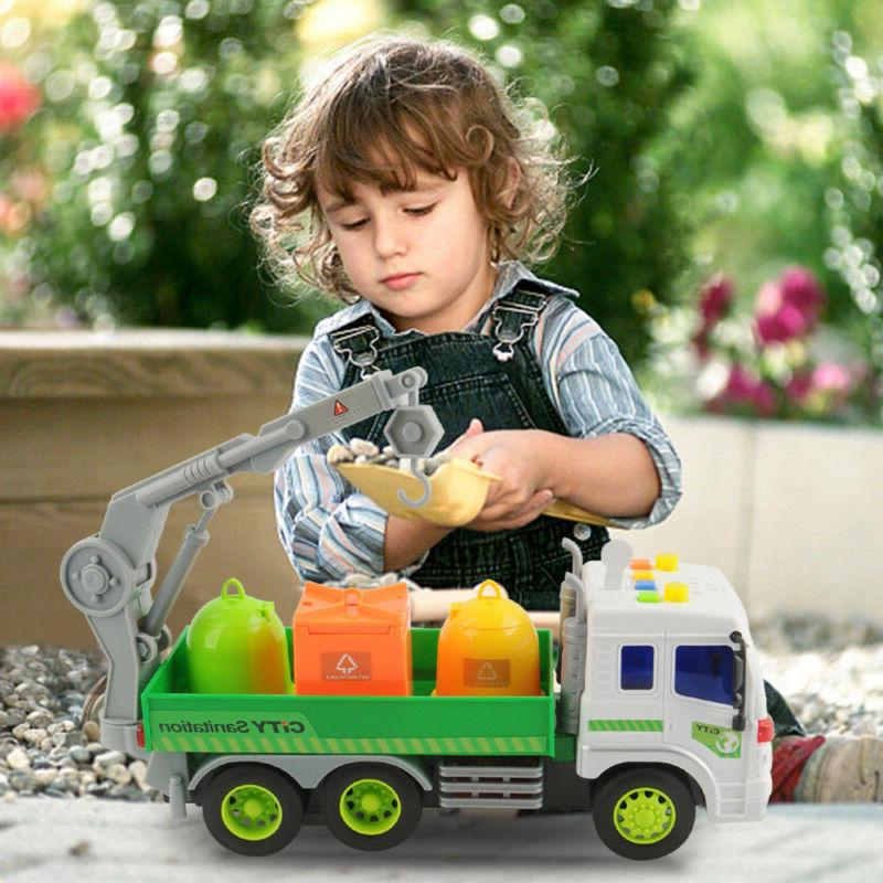 Heavy Duty Sanitation Lorry Trash Lights&Sound Cars Toys