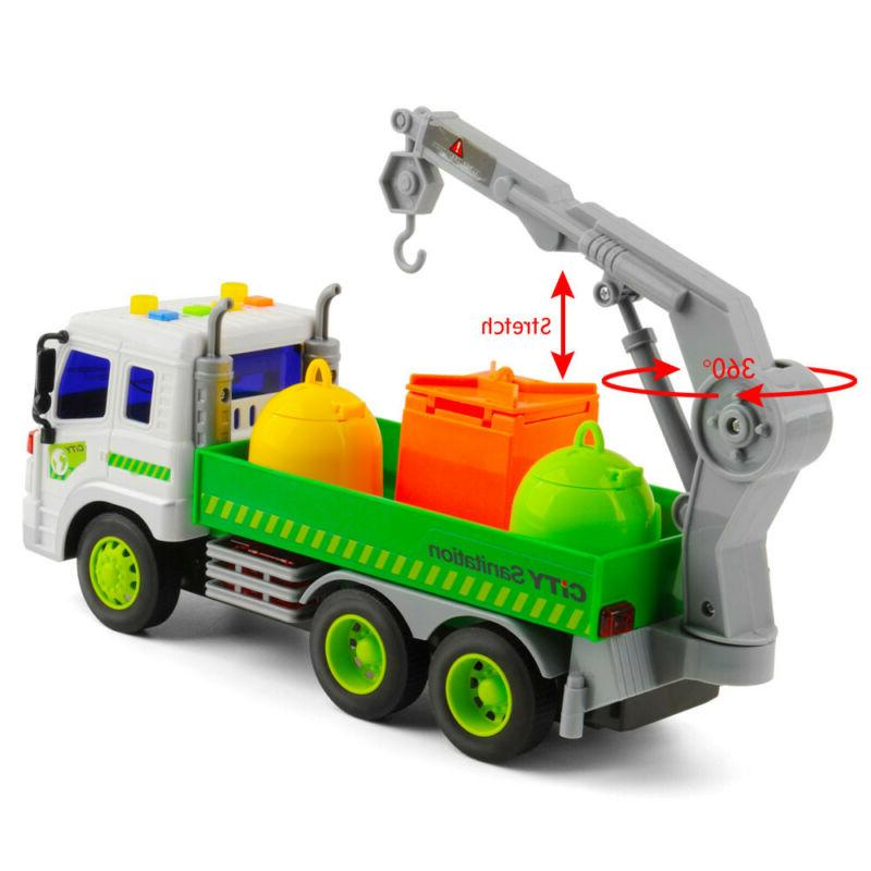 Heavy Duty City Sanitation Lorry 3 Trash Toys