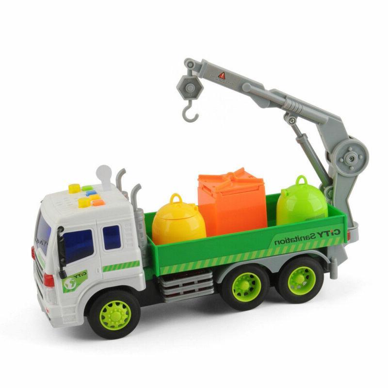 Heavy Sanitation Lorry Trash Cans Toys