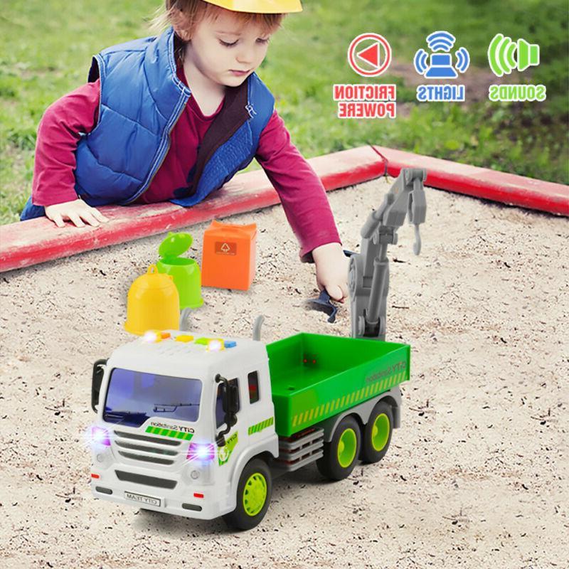 Heavy Duty City Lorry Trucks With 3 Trash Toys
