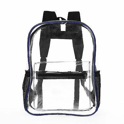 heavy duty clear transparent backpack see through