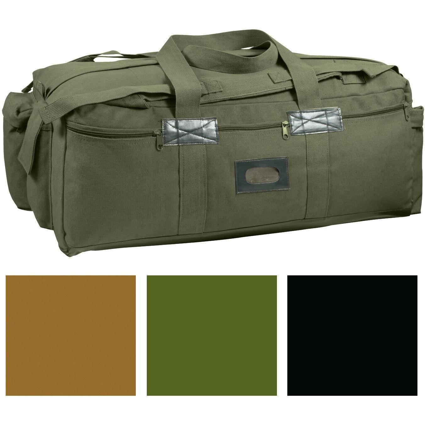 heavy duty cotton canvas tactical duffle bag