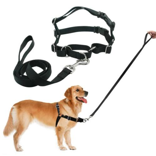 Heavy Front Leading No Pull Harness Collar & Lead Leash