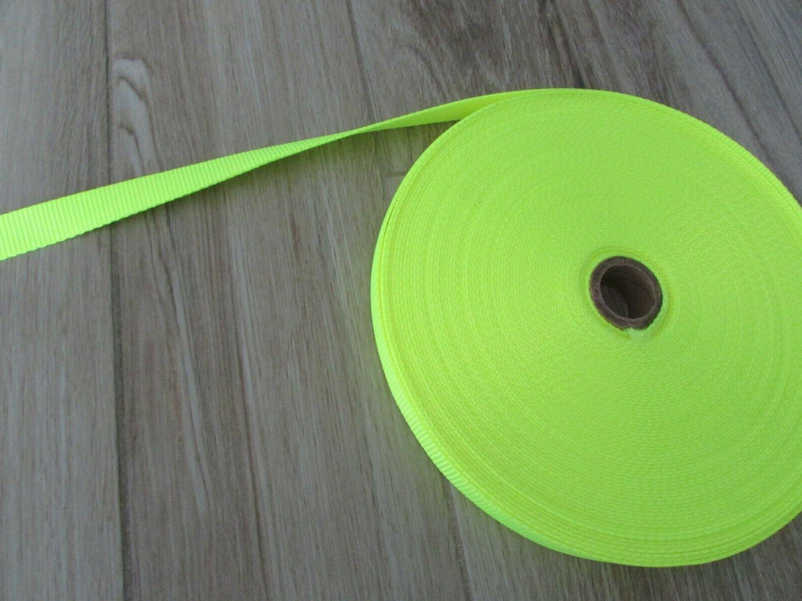 heavy duty nylon strapping 1 wide neon