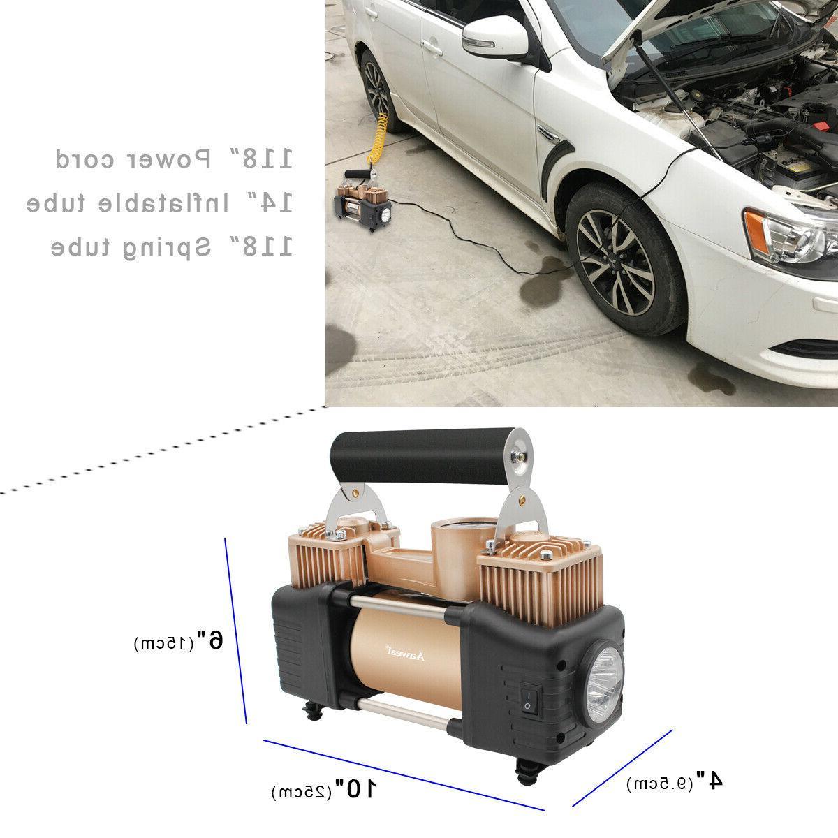 HEAVY DUTY Portable Compressor For Car Pump Shut Off