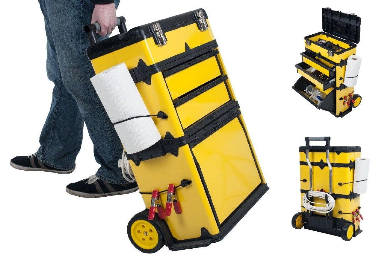 "Heavy Duty Rolling Metal Tool Box High Trolley 33"" Great Wor"