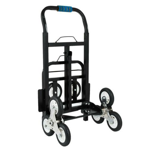 Stair Climbing Truck Trolley w/ Backup Wheels Heavy Duty
