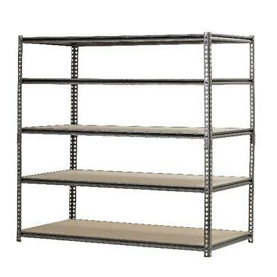 "Metal Muscle Rack Shelving Storage 48""W x 24""D x 72""H Garage"