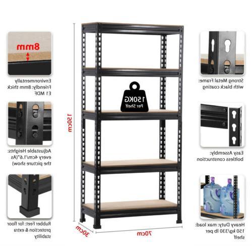 Heavy 5 Adjustable Garage Shelf Unit