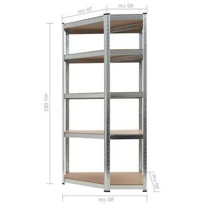 Heavy Duty Commercial Storage Silver Steel Home