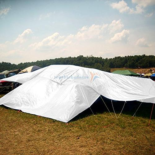 Sunshades 12 x 20 Feet 10 White Tent Shelter Camping