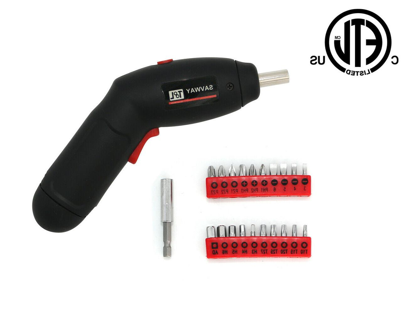 SAVWAY Rechargeable Drill Kit