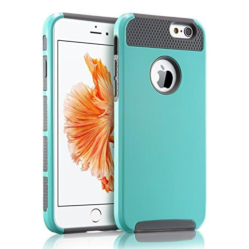 iPhone Case, Non 6 Plastic Protective Rubber Duty Cover for iPhone and iPhone 6S